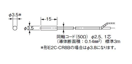 ONE OMRON E2C-CR8A